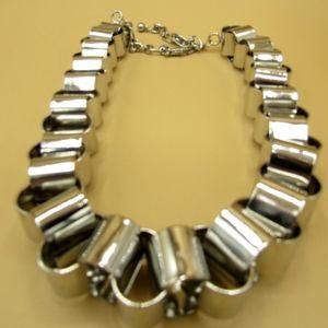 Express Brutalist Light Steel Necklace